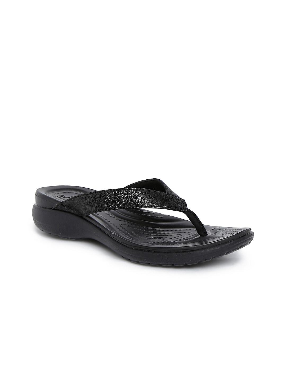 Crocs Women Black Flats image