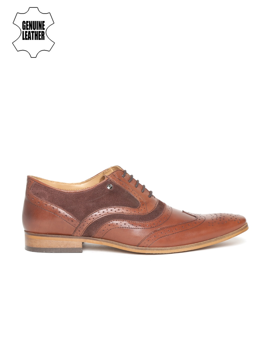 INVICTUS Men Brown Leather Brogues image