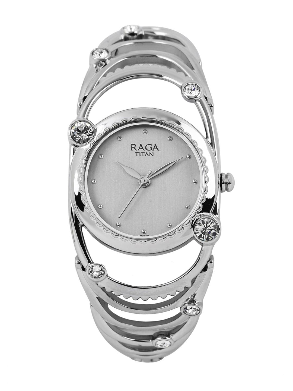 Titan Raga Aurora Women Grey Swarovski Analogue Watch 95049SM01J image