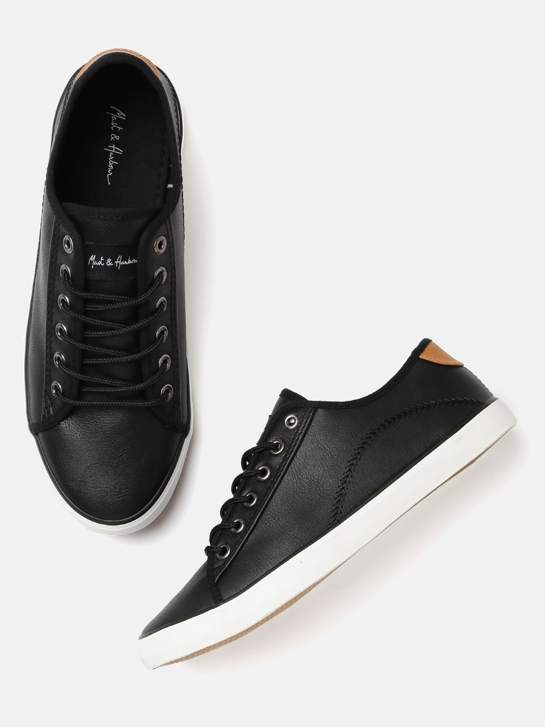Mast & Harbour Men Black Sneakers image