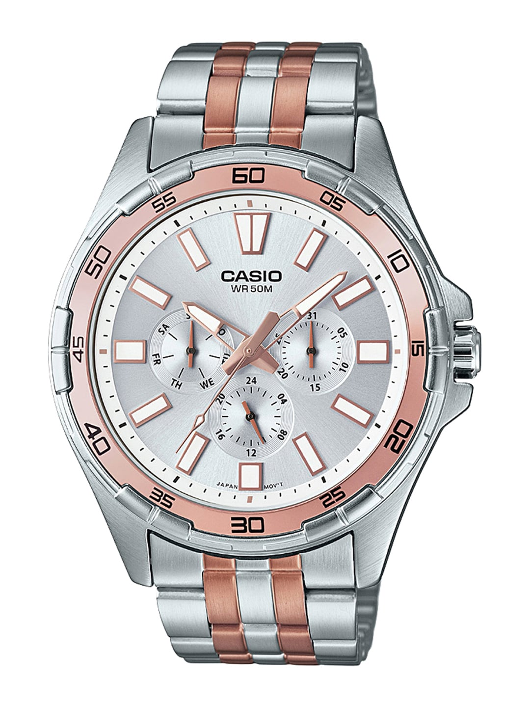 CASIO Enticer Men Silver-Toned Dial Watch A1157 image