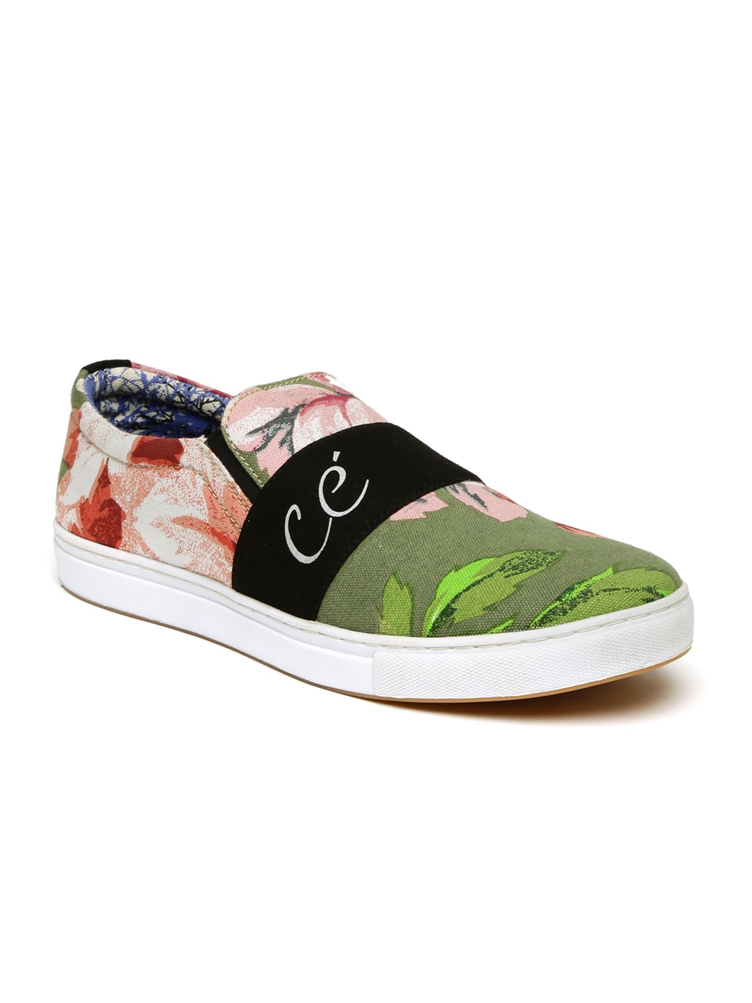 Core Men Multicoloured Floral Print Slip-Ons image
