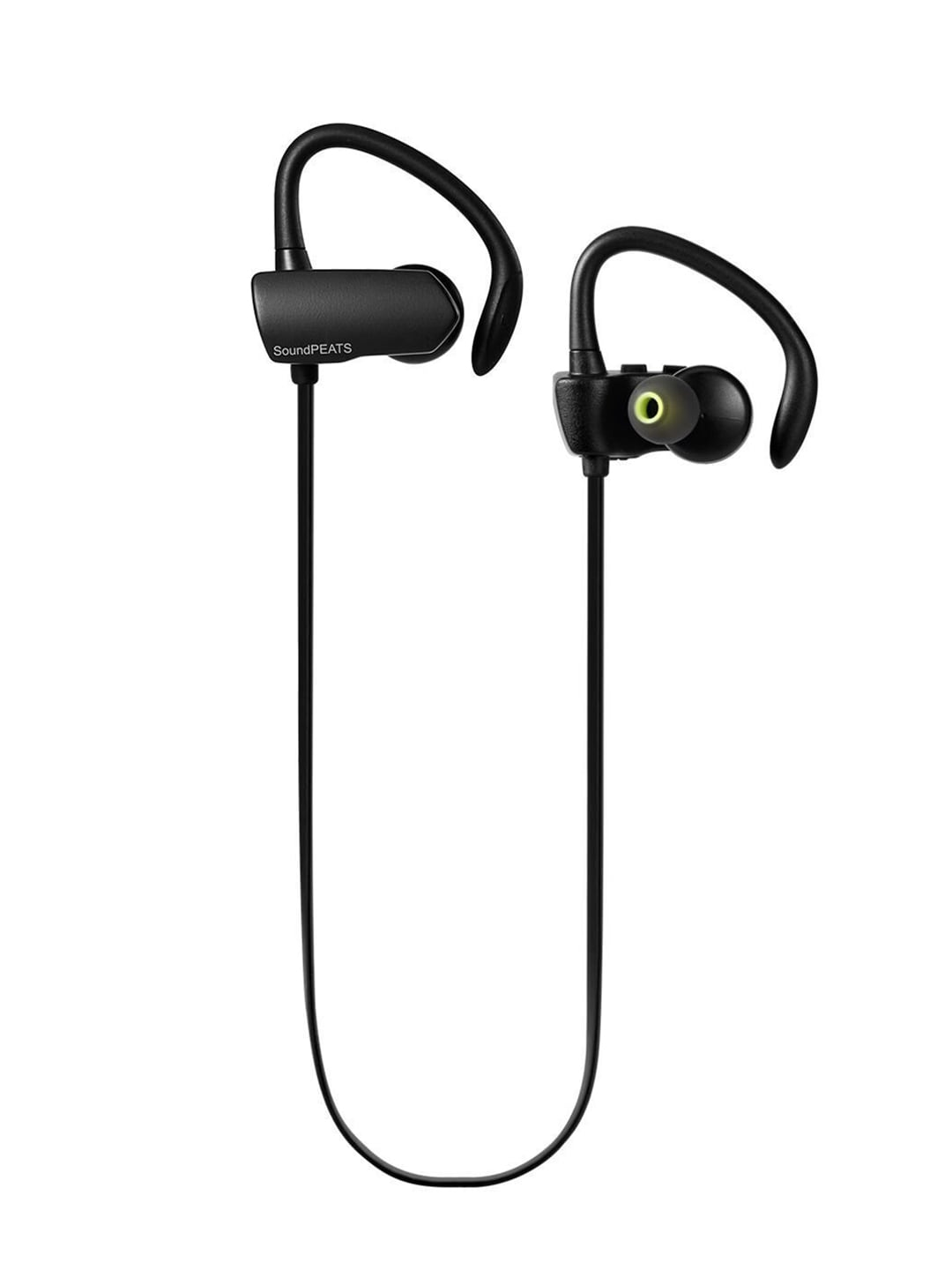 Buy SoundPEATS Q9A Black Wireless Sweat proof Secure Fit Earbuds with Mic At Best Price