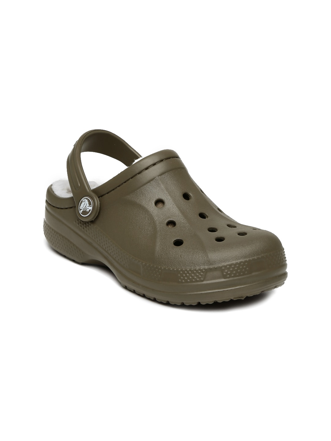 Crocs Kids Brown Ralen Lined Clogs image