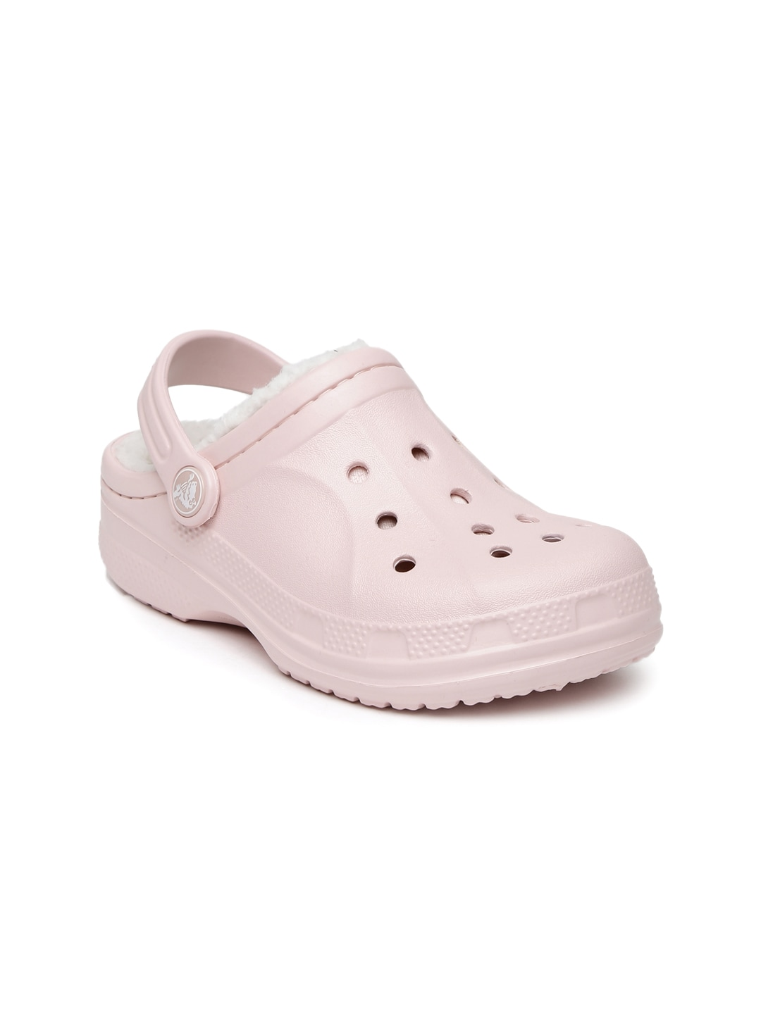 Crocs Kids Pink Ralen Lined Clogs image