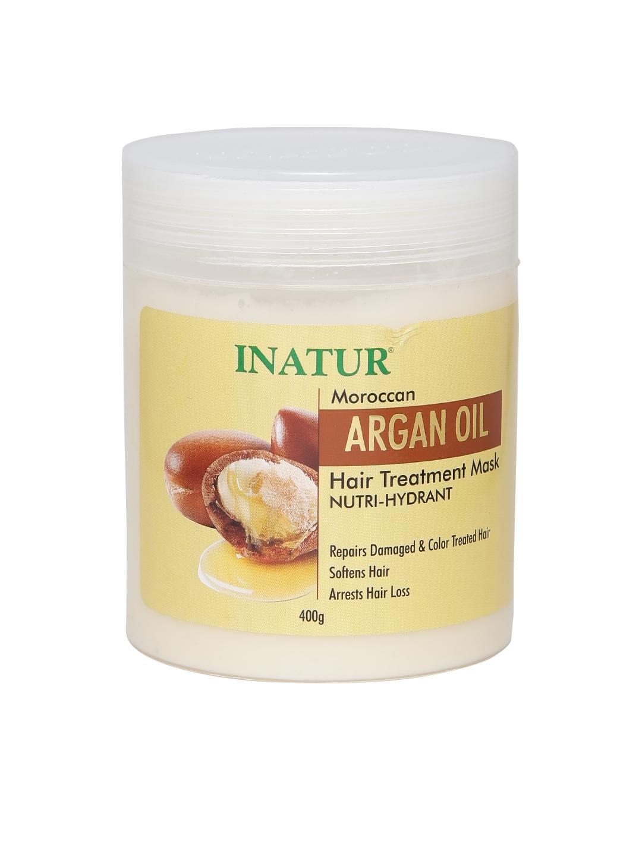 Inatur Unisex Moroccan Argan Oil Hair Treatment Mask image