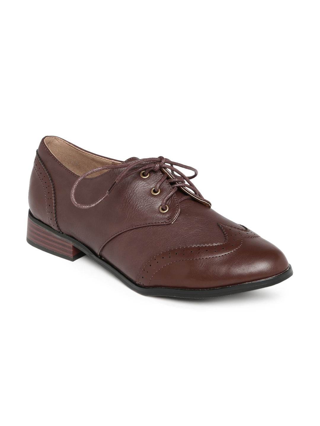 Allen Solly Women Brown Solid Formal Shoes image