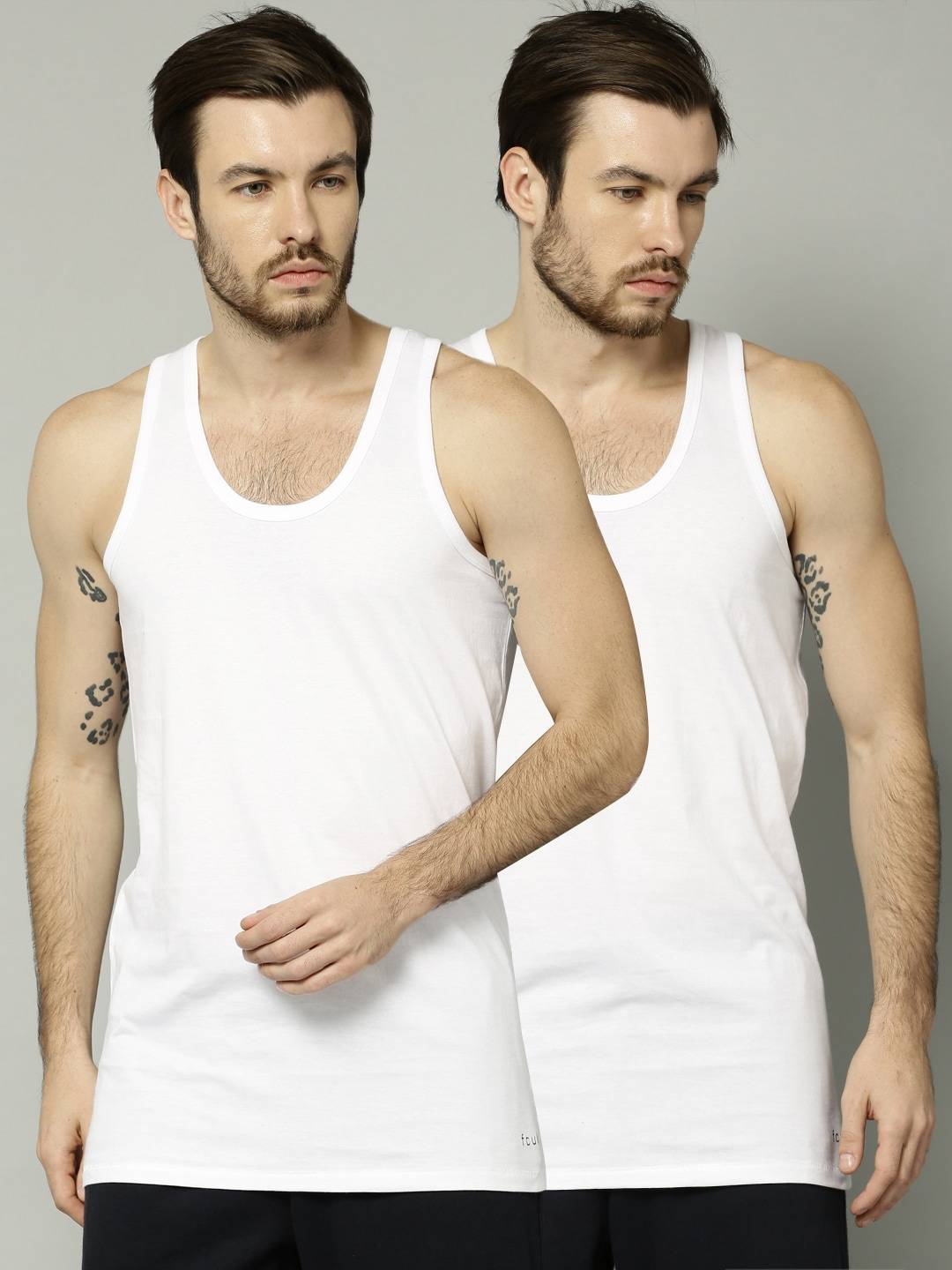 FCUK Pack of 2 Innerwear Vests CVT01 image