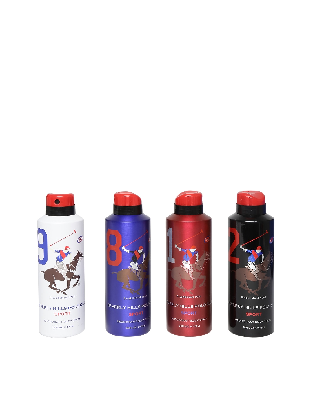 Beverly Hills Polo Club Sport Set of 4 Men Deodorant Body Sprays image