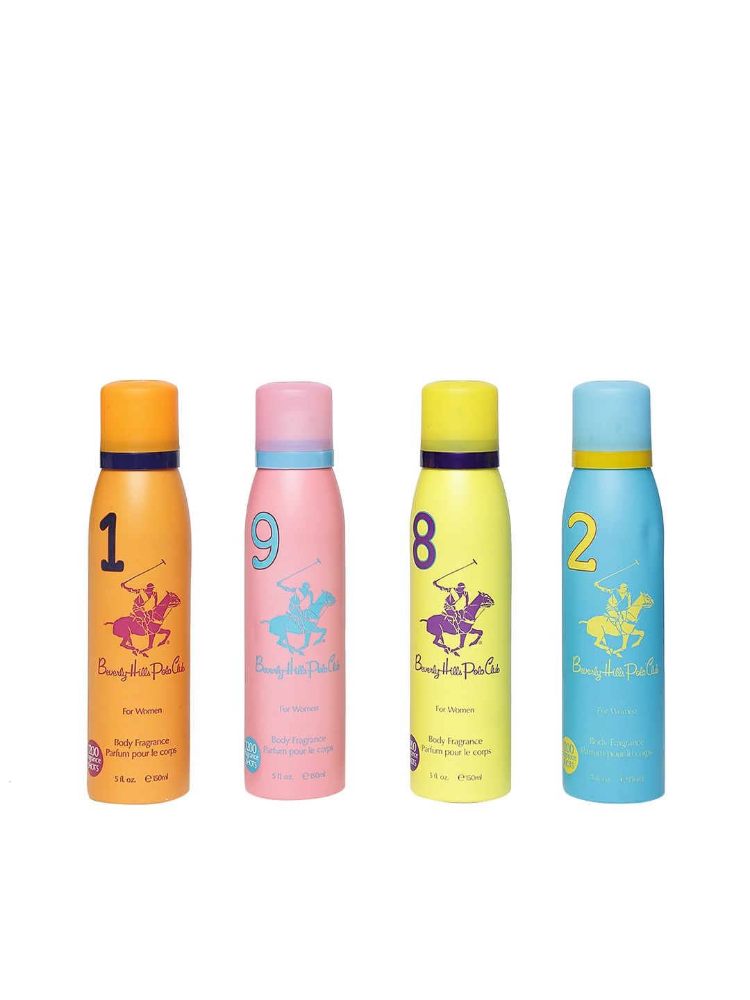 Beverly Hills Polo Club Set of 4 Deodorant Body Sprays image