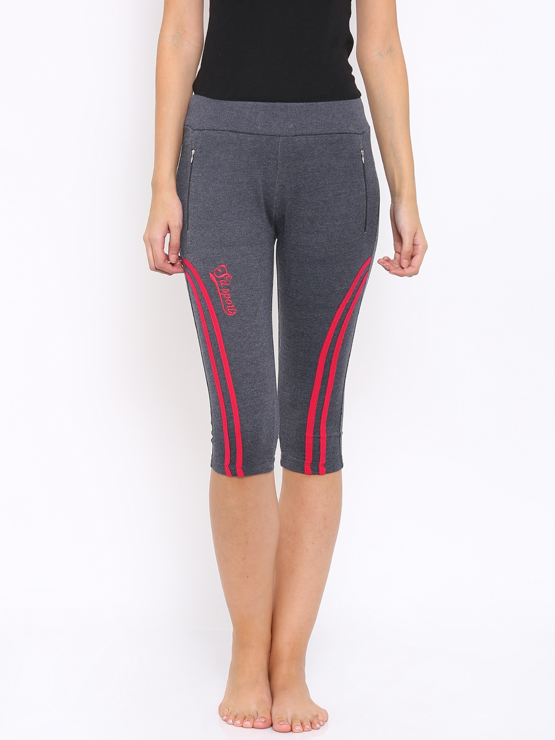 SDL by Sweet Dreams Charcoal Grey Capris image