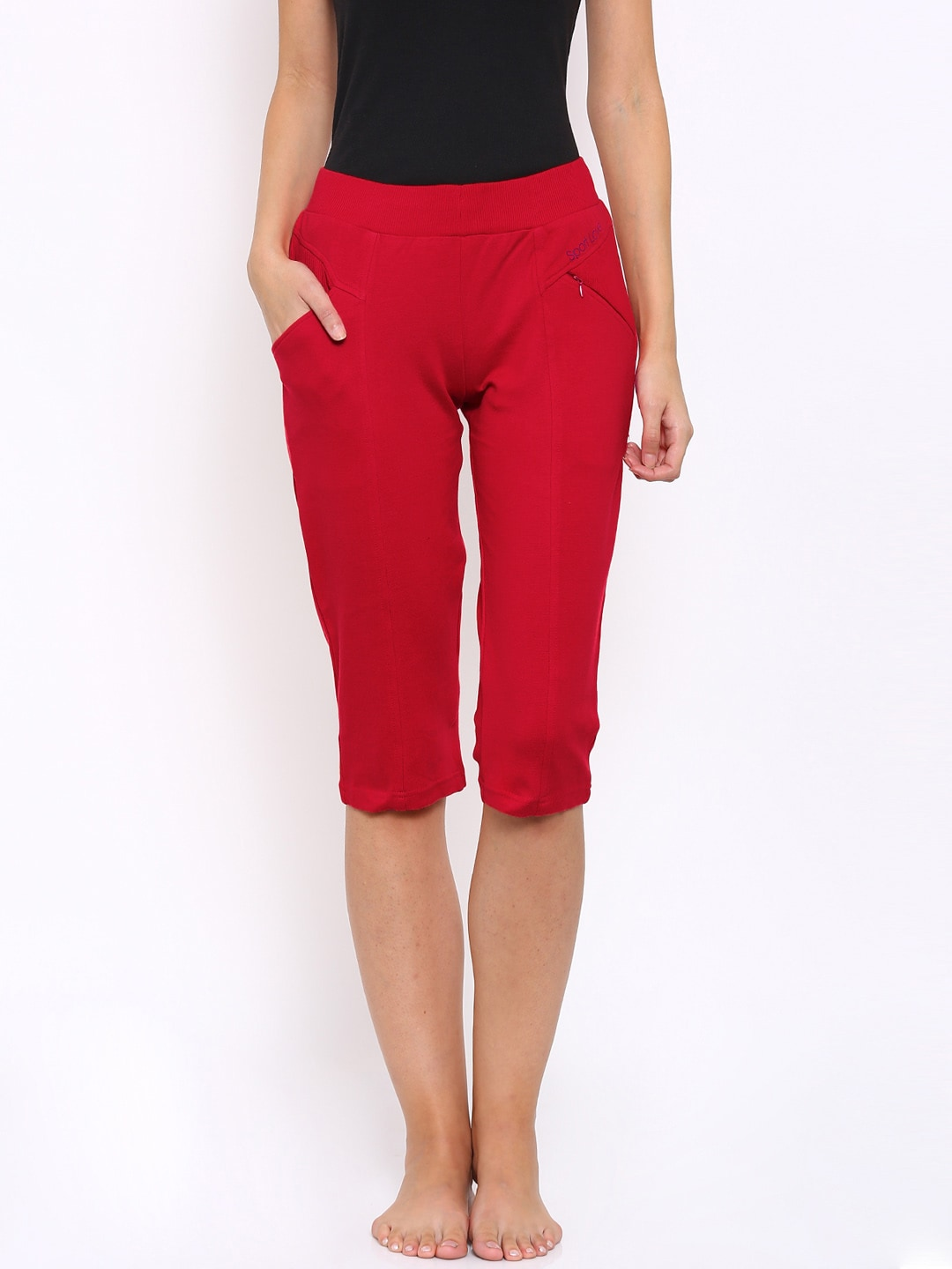 SDL by Sweet Dreams Red Capris image