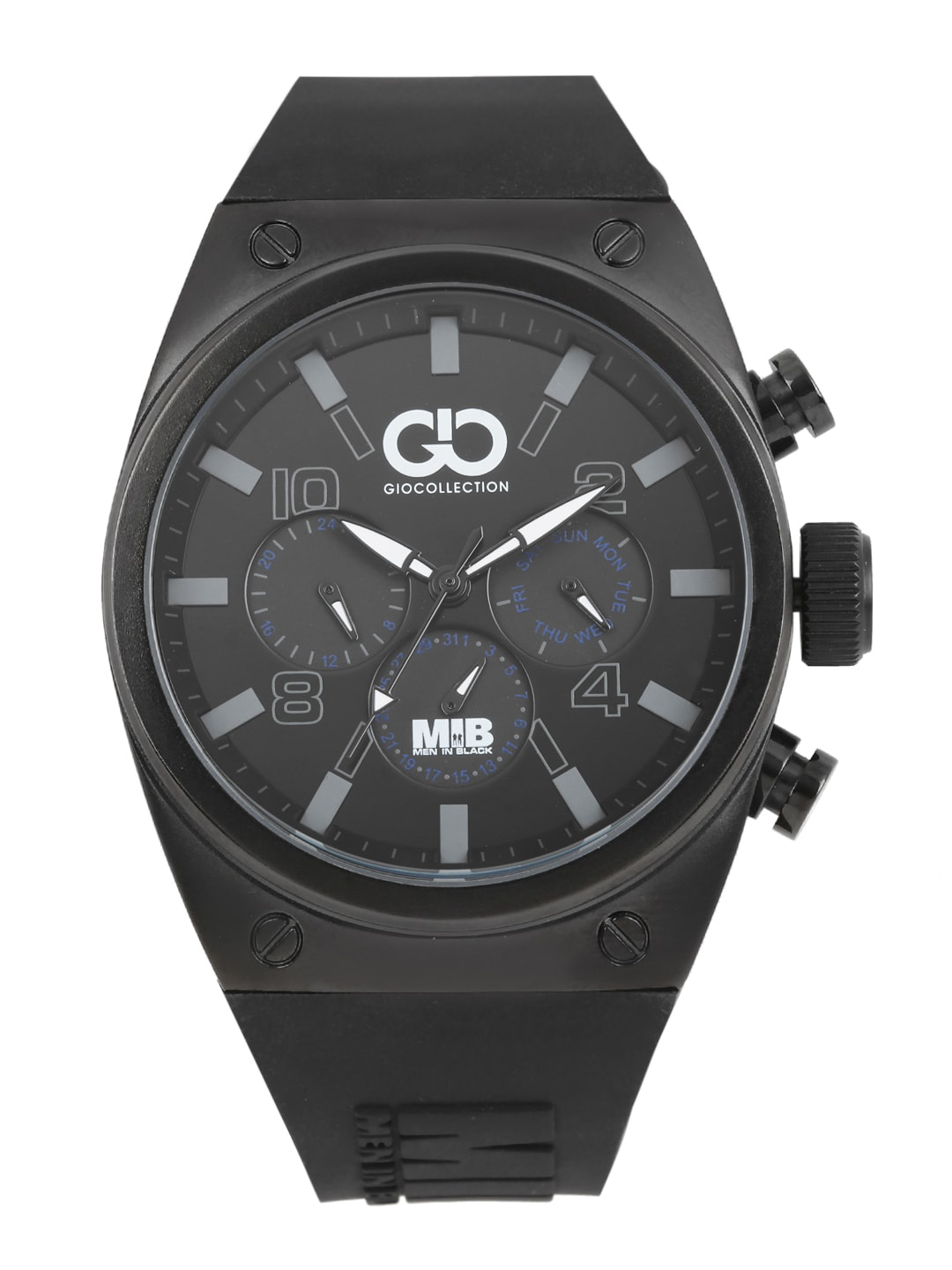 GIO COLLECTION Men Black Multi-Function Watch AD-0044-B image