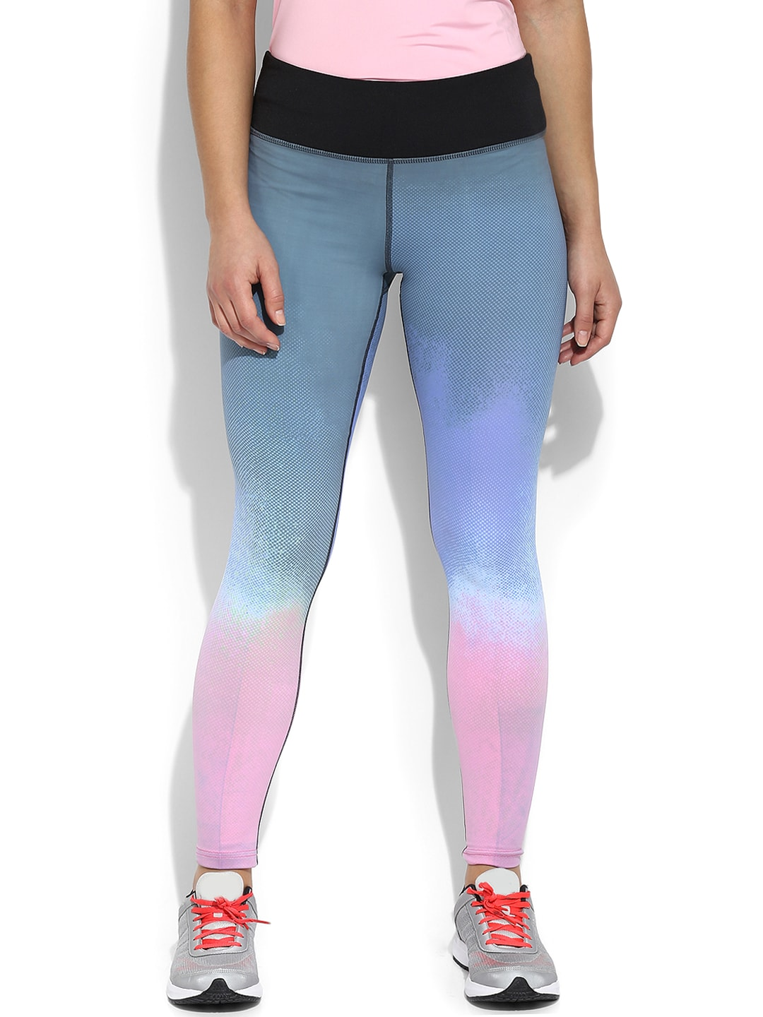 Da Intimo Grey & Pink Ombre-Dyed Training Tights image