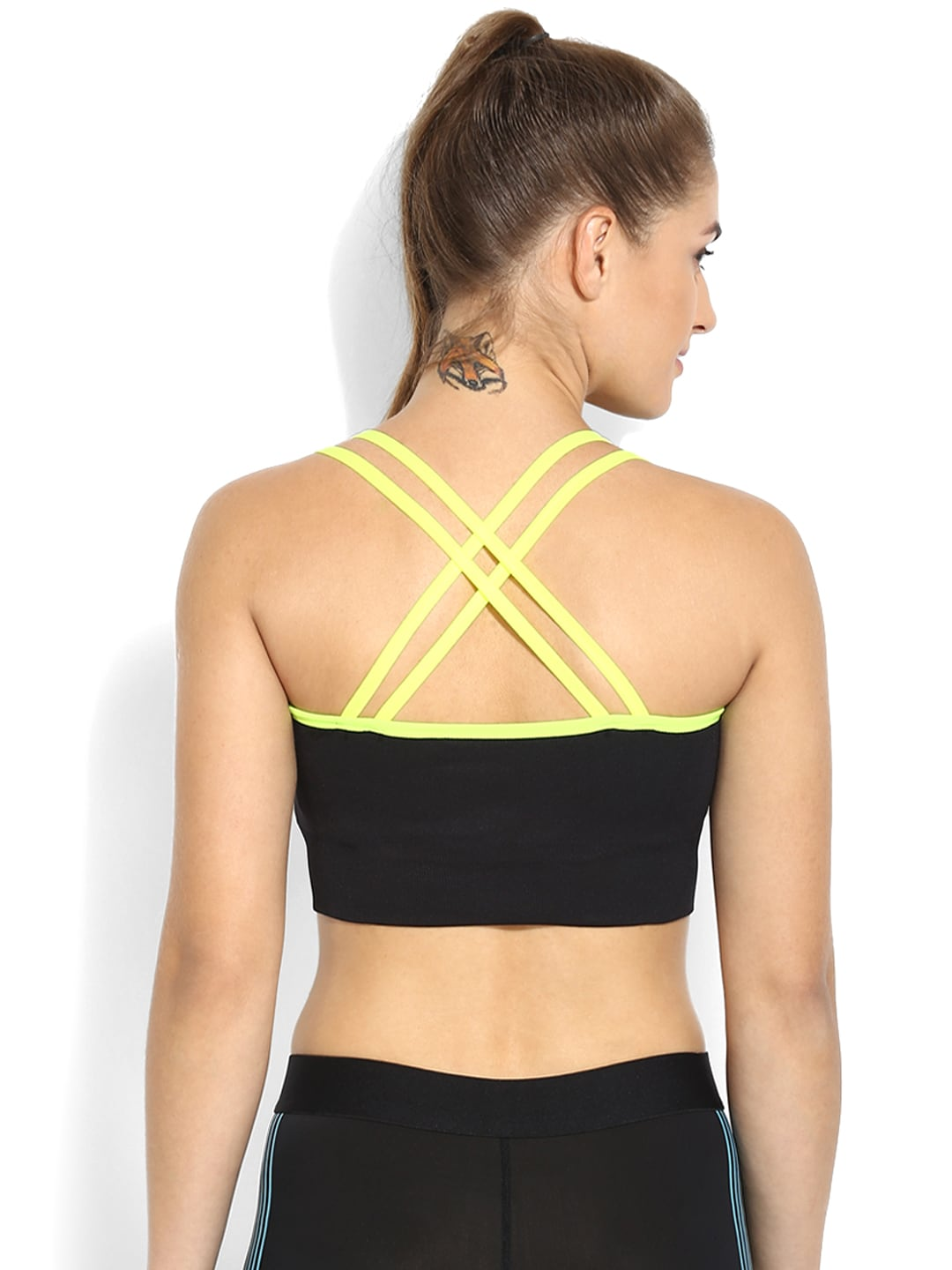 Da Intimo Black Solid Non-Wired Full Coverage Lightly Padded Sports Bra DIX-41 image