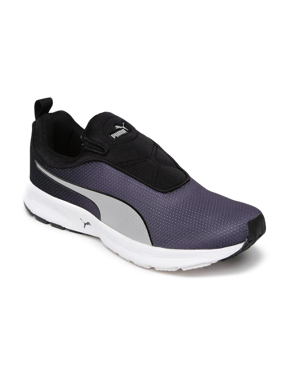 Puma Men Purple & Black EF Cushion Slipon Fade DP Running Shoes image