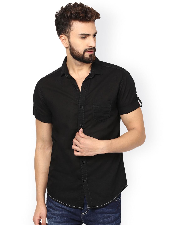 Mufti Men Black Slim Fit Casual Shirt image