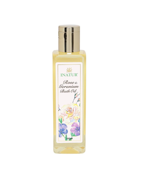 Inatur Unisex Rose & Geranium Bath Oil image