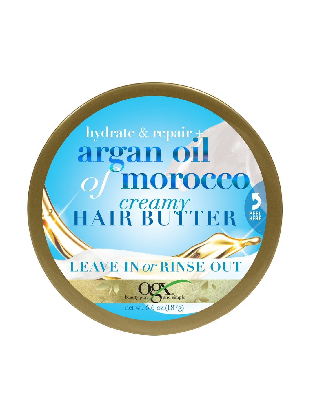 OGX Unisex Argan Oil of Morocco Creamy Hair Butter image