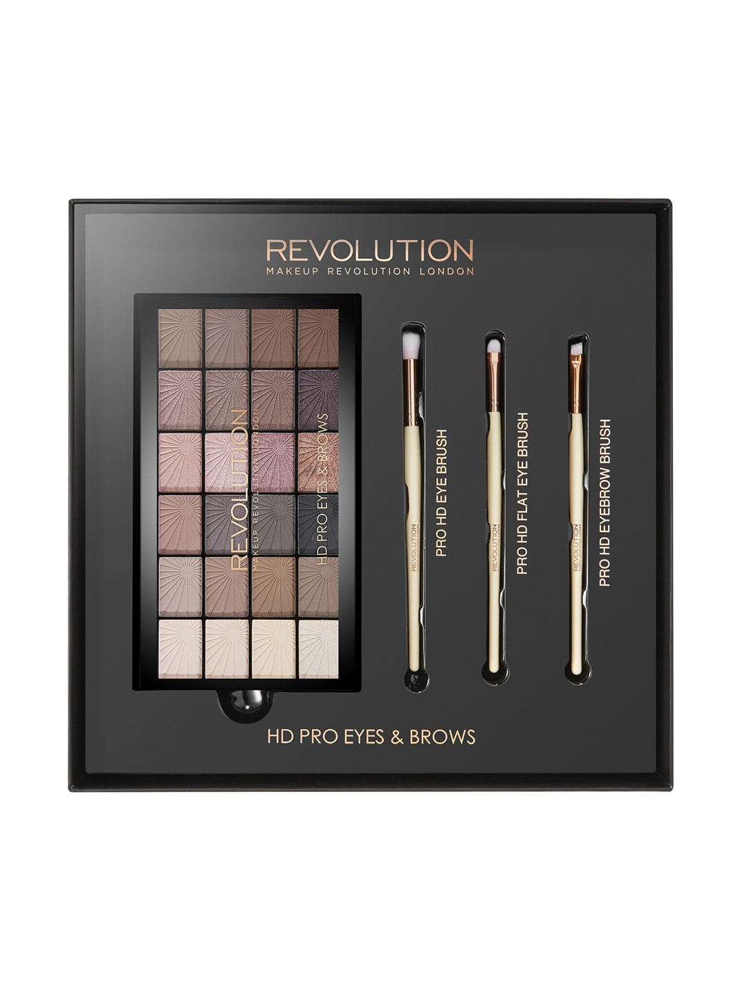 Makeup Revolution London HD Pro Eye Shadow & Brush Set image