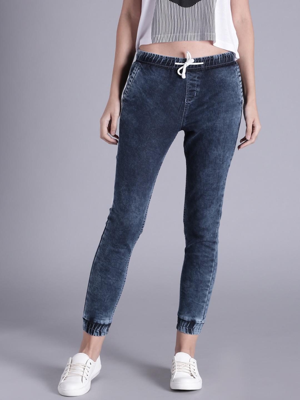 Kook N Keech Women Blue Jogger Stretchable Jeans image