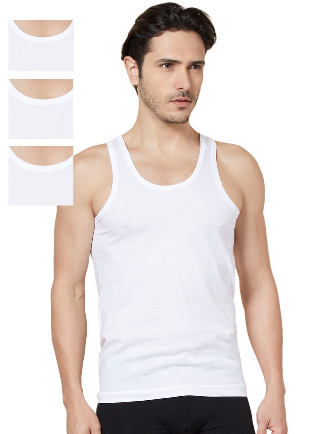 Tuna London White Pack of 4 Innerwear Vests 1010 image
