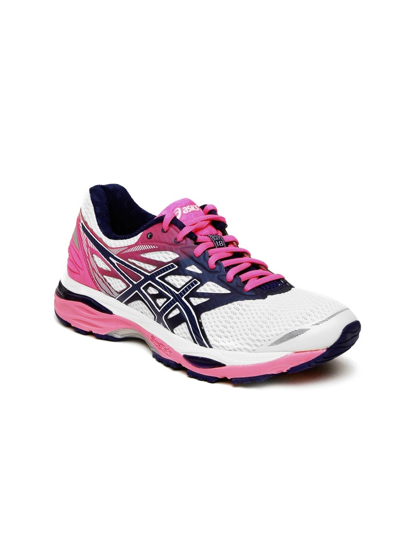 ASICS Women White GEL-CUMULUS 18 Running Shoes image