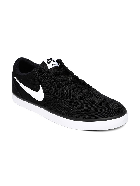 Nike Men Black Skate Boarding Check Solar Sneakers