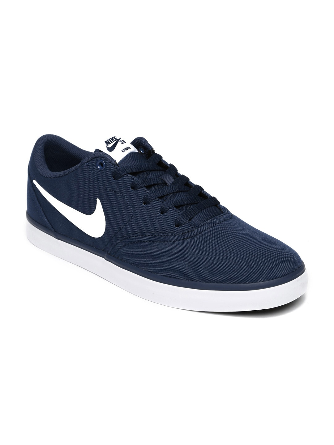 Nike Men Navy Blue SB Check Solar Canvas Sneakers image
