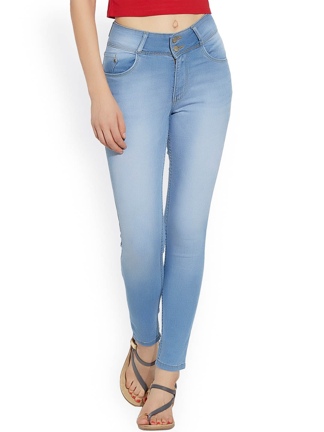 Kraus Jeans Women Blue Skinny Fit High-Rise Clean Look Jeans image