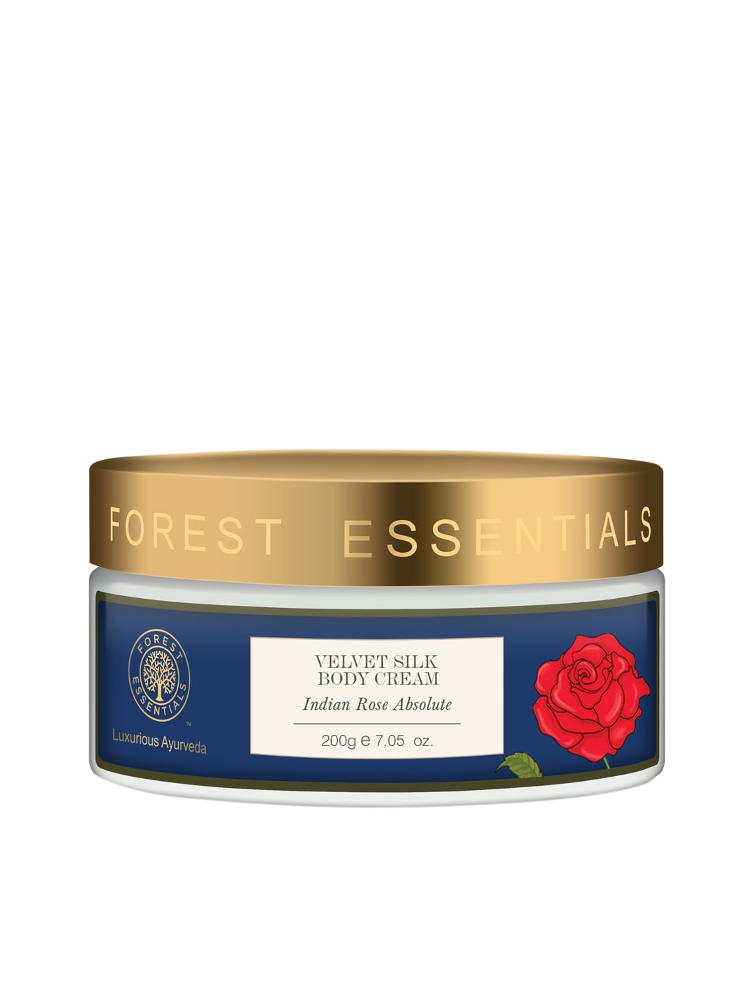 Forest Essentials Velvet Silk Indian Rose Absolute Body Cream image