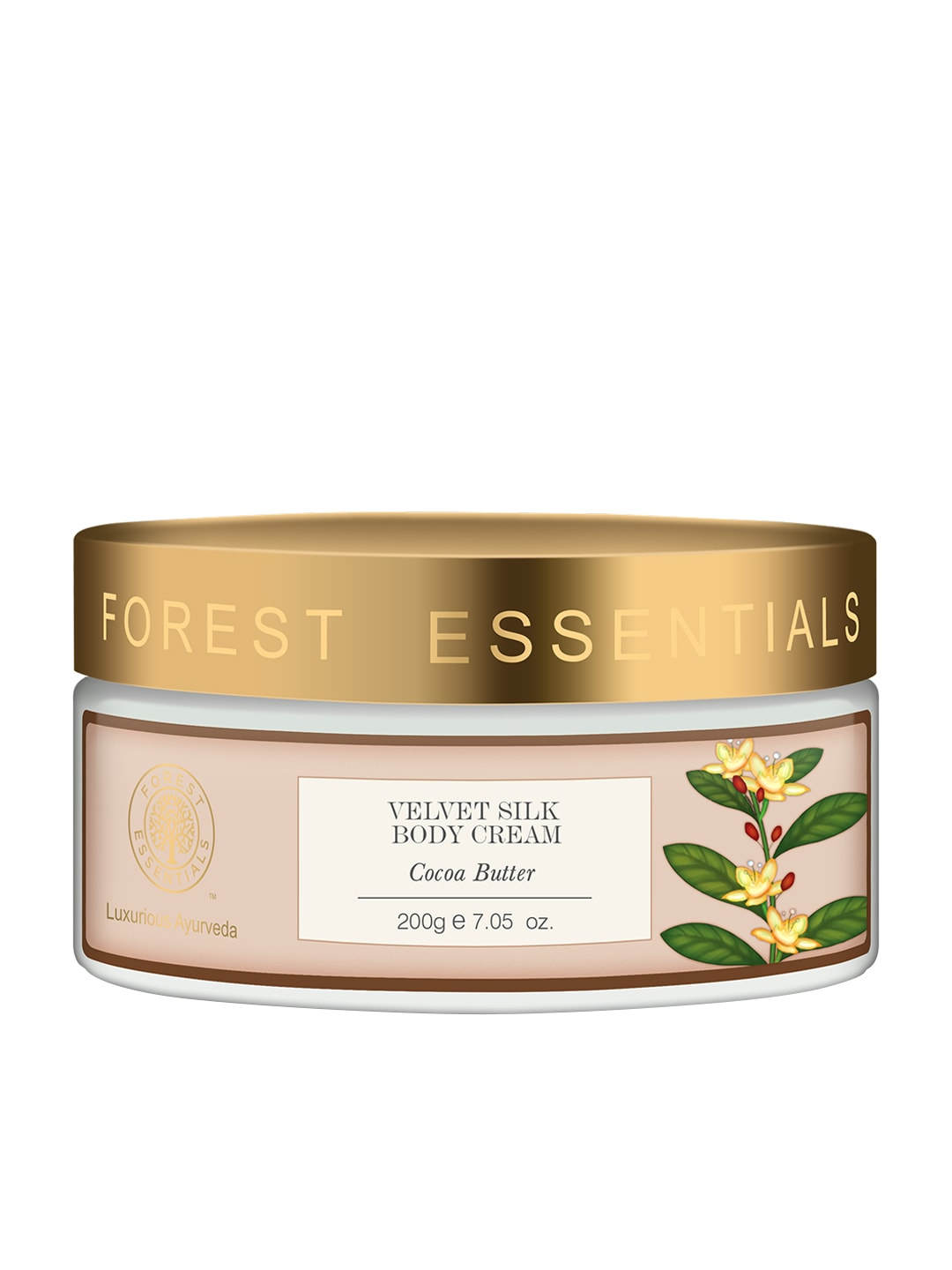 Forest Essentials Unisex Velvet Silk Cocoa Butter Body Cream image