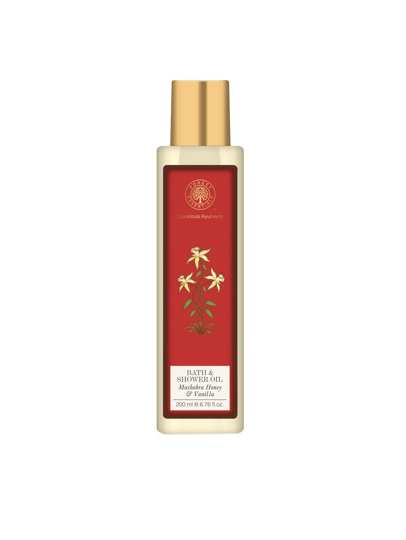 Forest Essentials Unisex Mashobra Honey & Vanilla Moisture Replenishing Bath & Shower Oil image