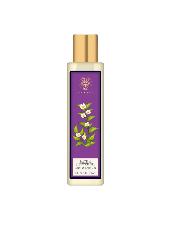 Forest Essentials Oudh & Green Tea Moisture Replenishing Bath & Shower Oil image