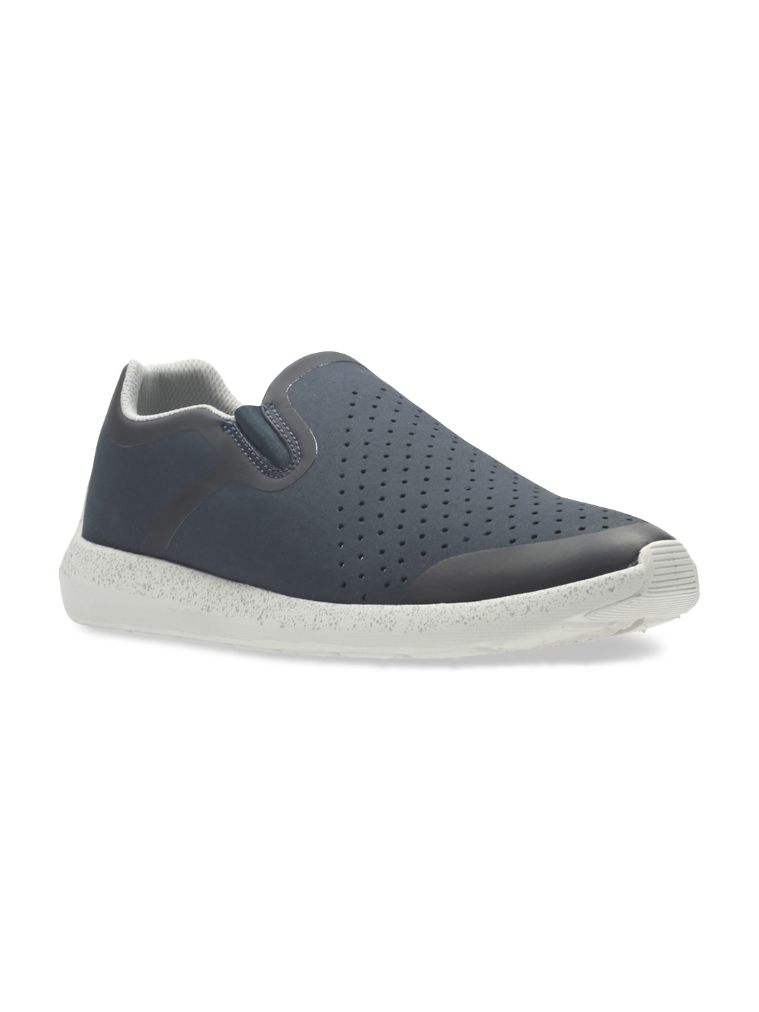 Clarks Men Blue Perforated Torset Easy Slip-On Sneakers image