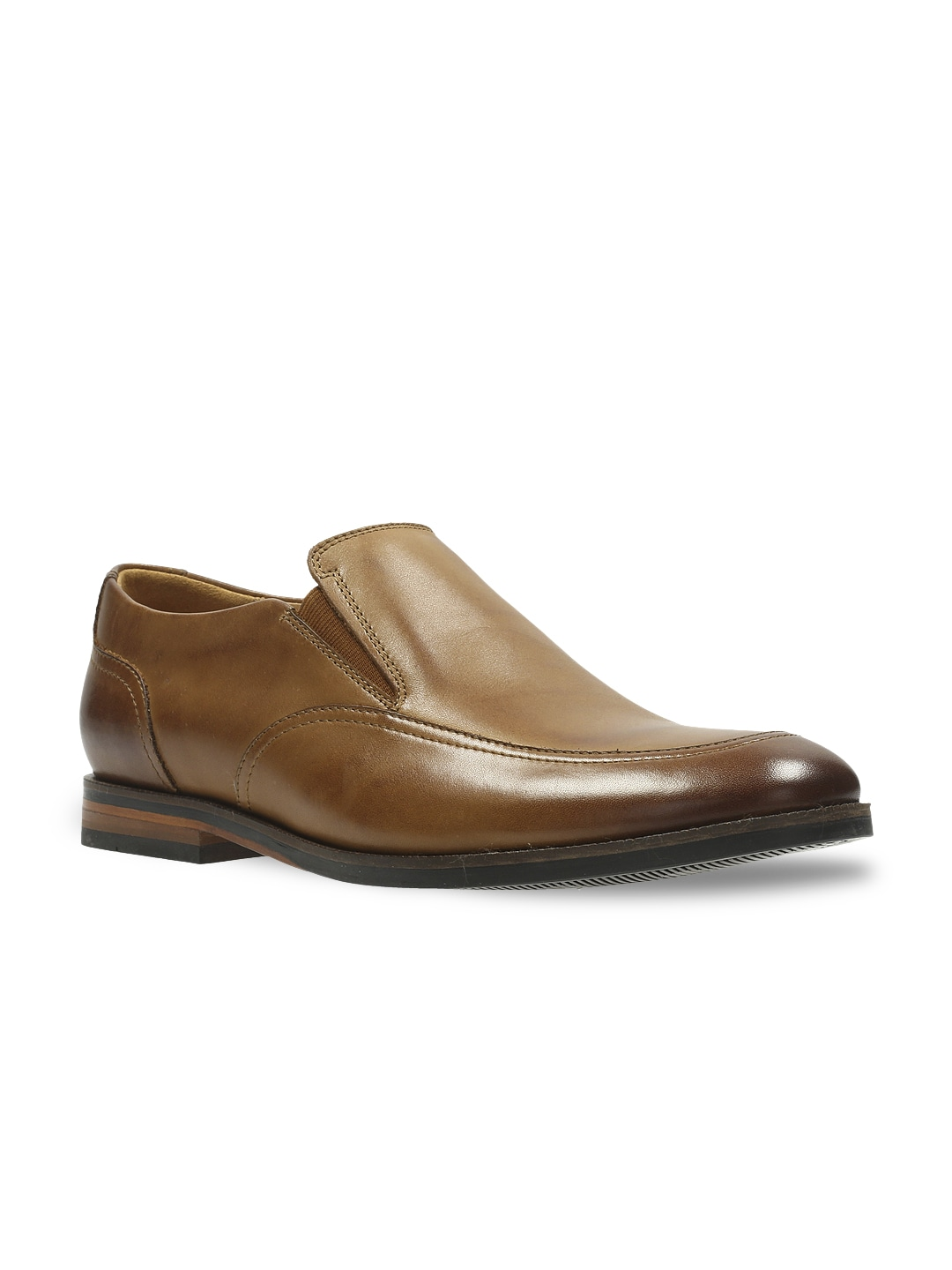 Clarks Men Tan Brown Leather Formal Shoes image