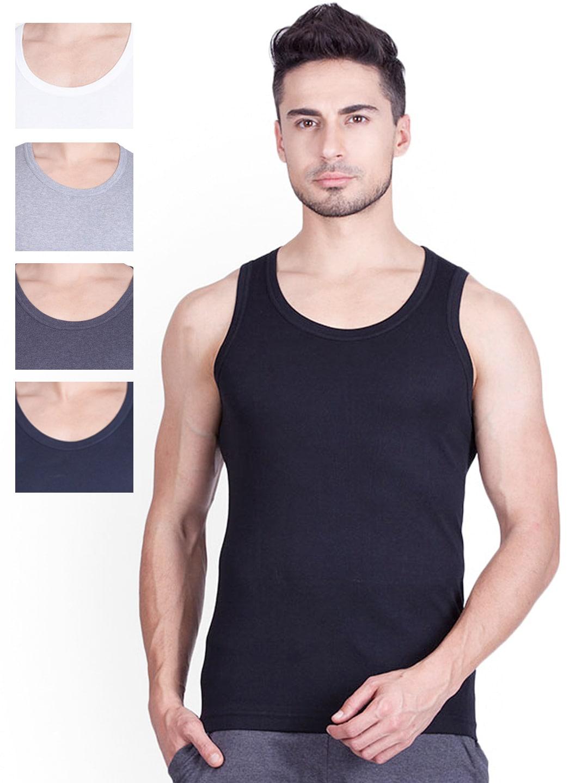 ONN Pack of 5 Innerwear Vests ONN_BASICZ_AST_NB131 image
