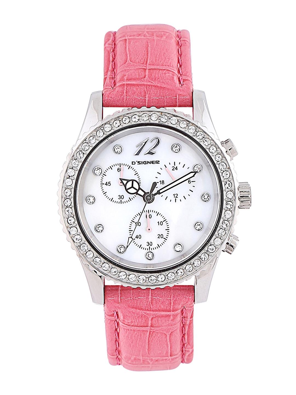 Dsigner Women White Dial Chronograph Watch 743SL image