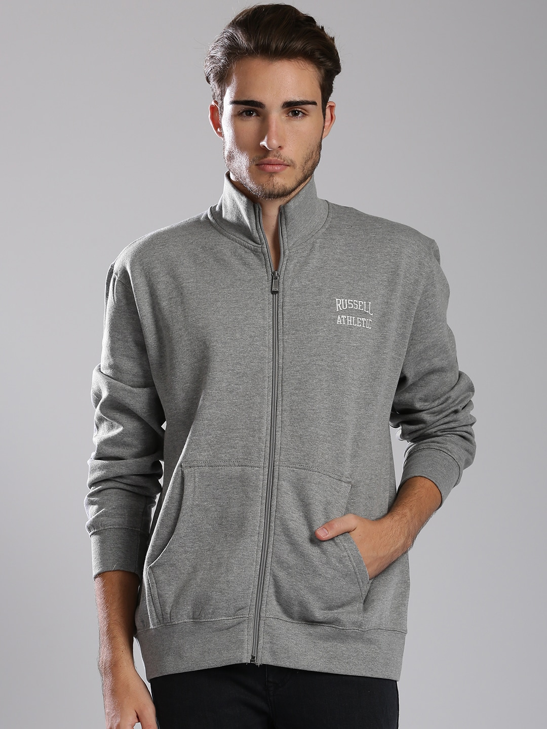 Russell Athletic Grey Melange Comfort Fit Sweatshirt image