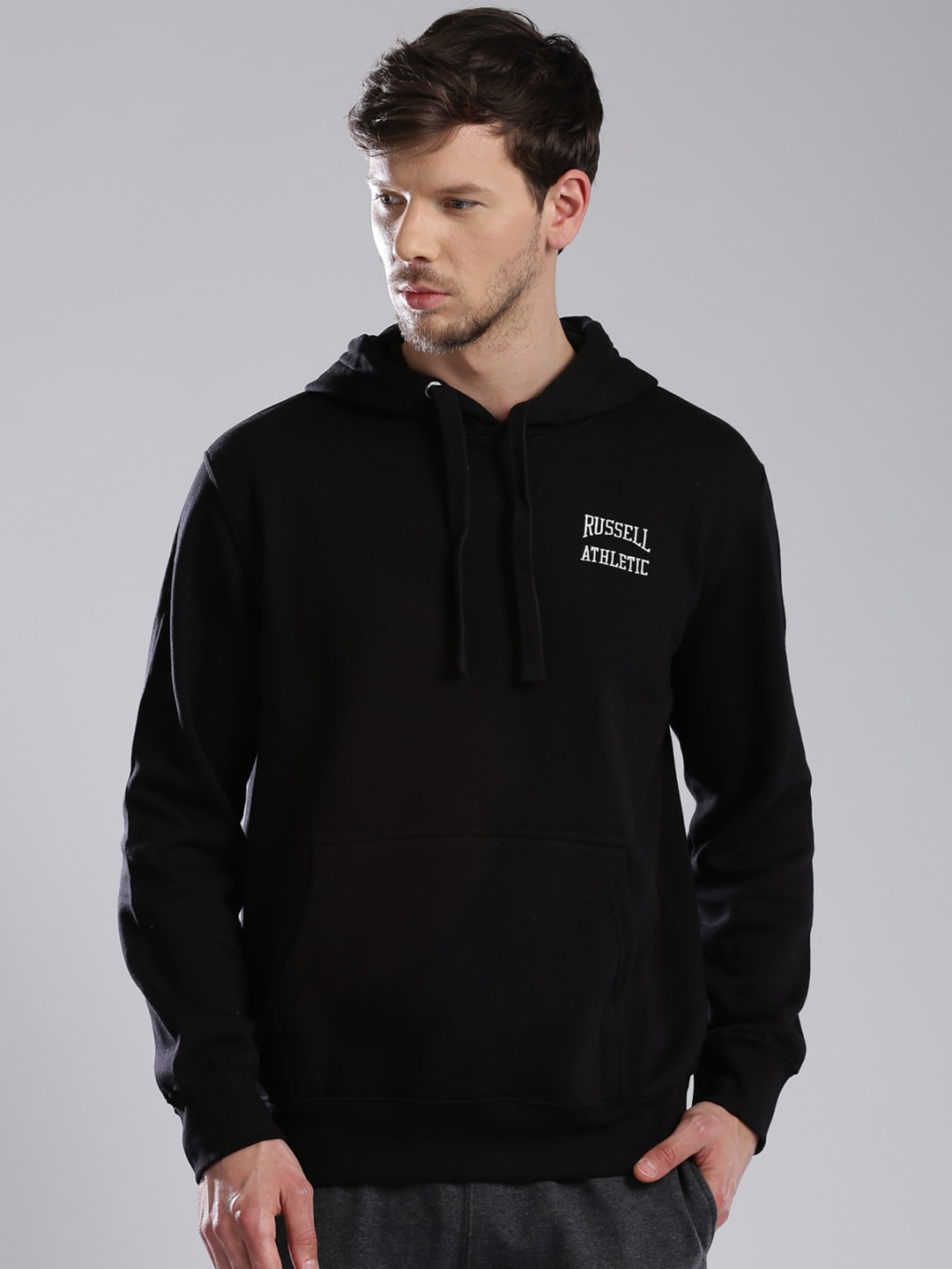 Russell Athletic Black Hooded Sweatshirt image
