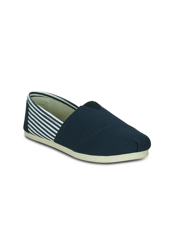 Kielz Women Blue Slip-On Sneakers image