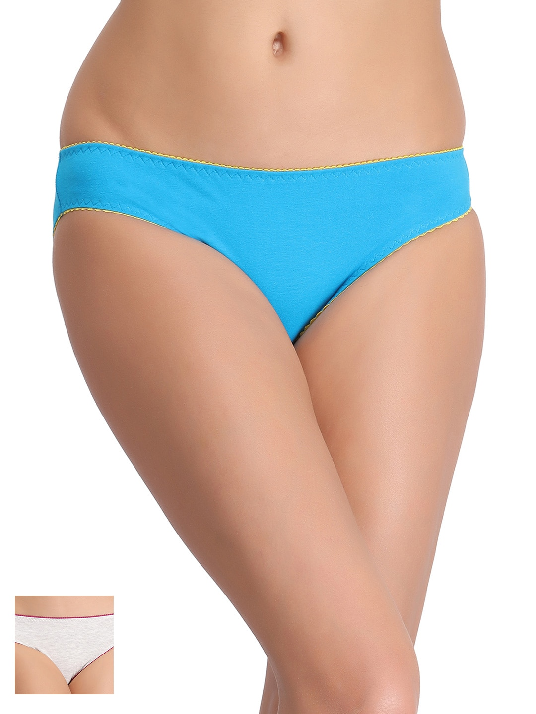 Clovia Women Pack of 2 Bikini Briefs COMPN0198XL image