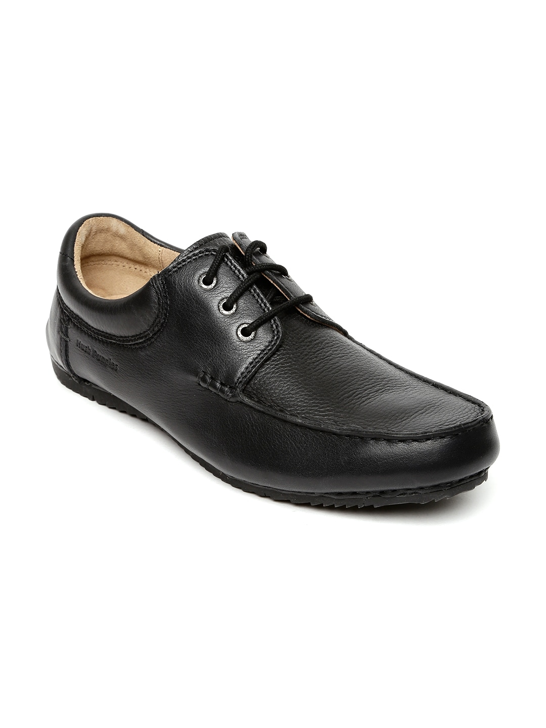 Hush Puppies Men Black Leather Derby Shoes image