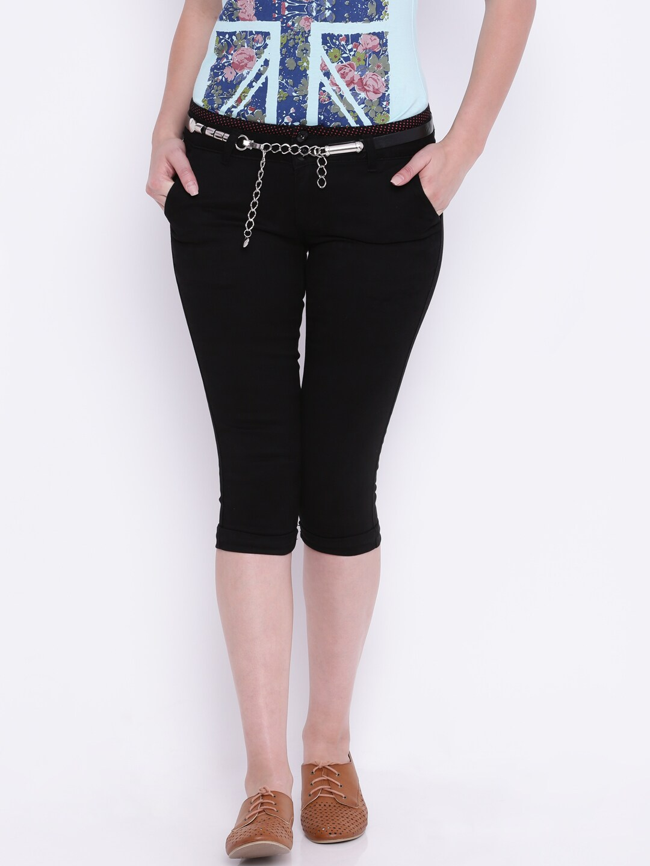 Deal Jeans Black Capris image