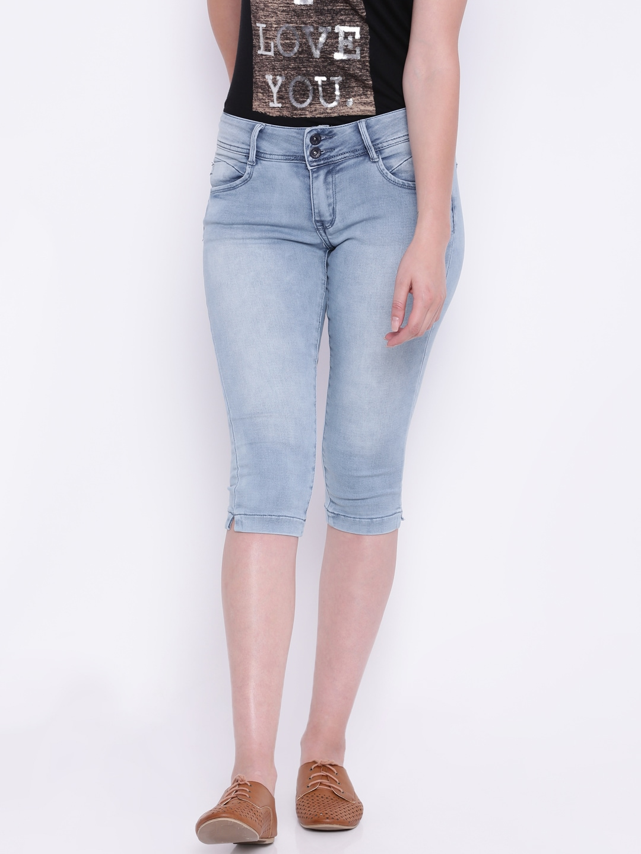 Deal Jeans Blue Denim Capris image