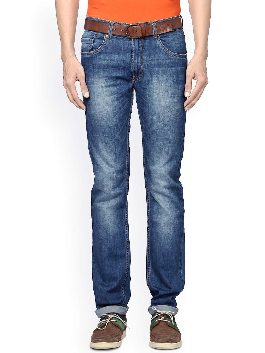 Peter England Men Blue Slim Fit Jeans image