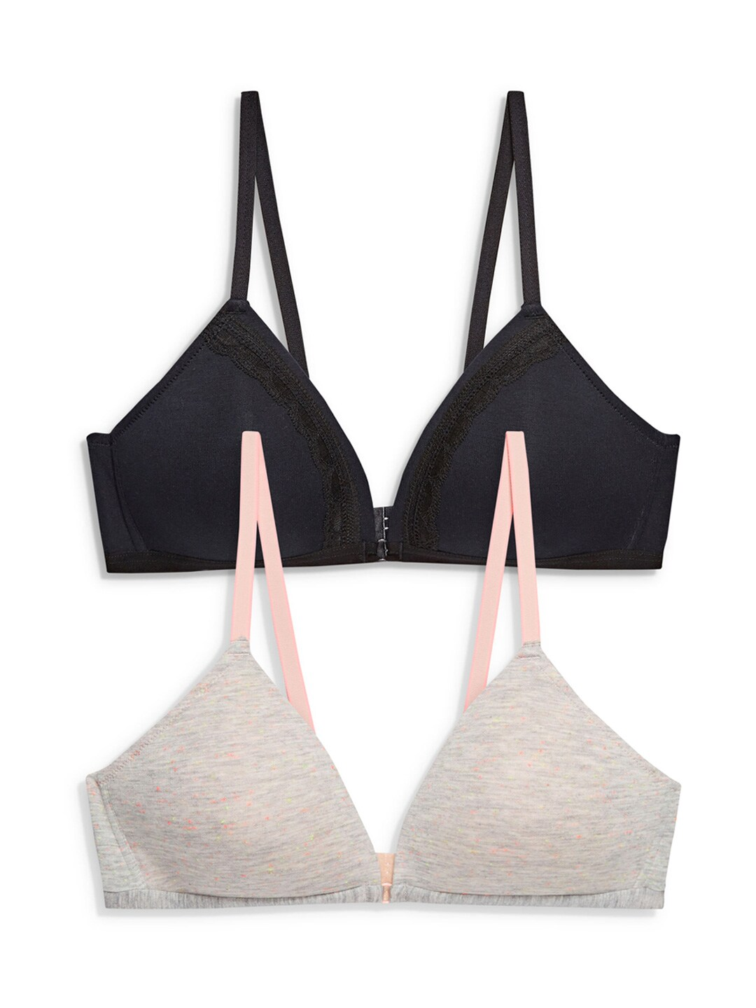 next Black & Beige Pack of 2 Non-Wired Lightly Padded Push-Up Bra 7562684073475740347 image