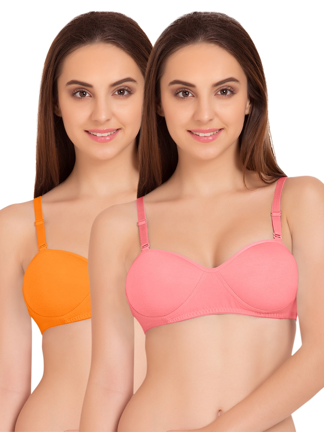 Tweens Pack of 2 Padded T-shirt Bras TW91201ORG-2PC-CRL image