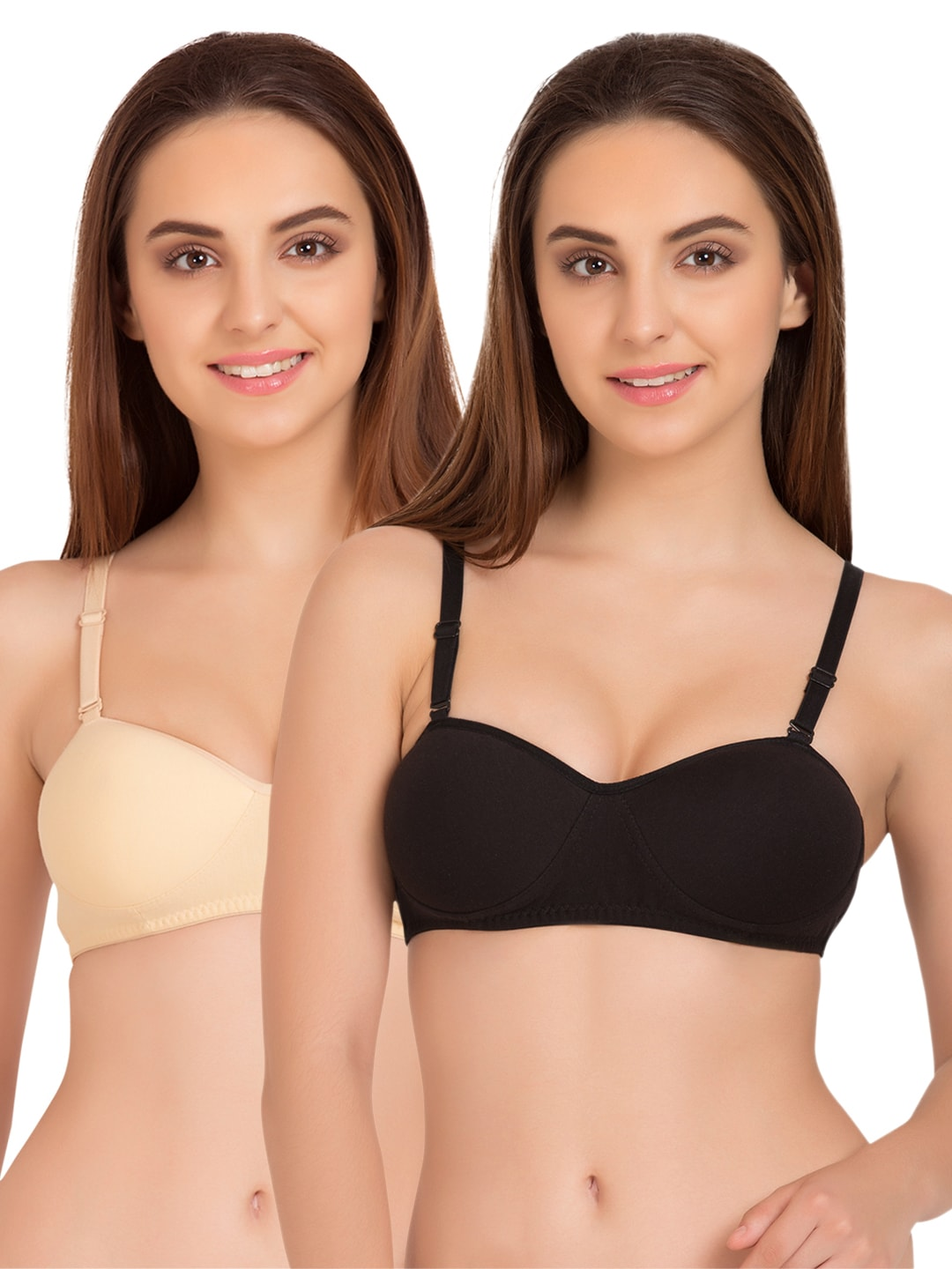 Tweens Pack of 2 Padded T-shirt Bras TW91201SK-2PC-BL image