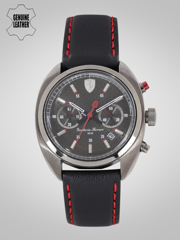 SCUDERIA FERRARI Formula Sportiva Men Charcoal Grey Chronograph Watch 0830209_SF image